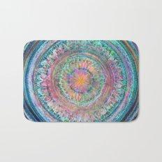 Pink and Turquoise Mandala Bath Mat