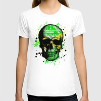 jamaica T-shirts featuring Jamaica circuit Skull. by seb mcnulty