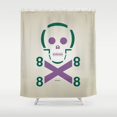 HELLvetica Shower Curtain
