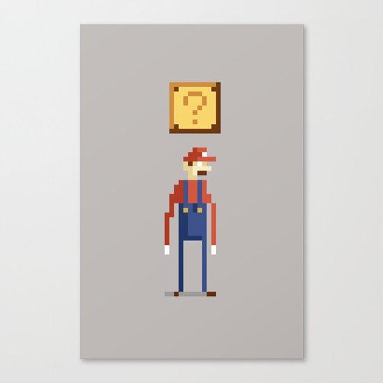 Pixel Plumber Canvas Print