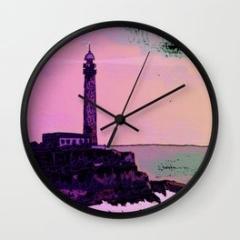 Golden Hours / Lighthouse Barlovento La Palma Wall Clock