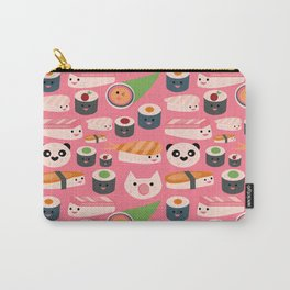 Kawaii sushi hot pink Carry-All Pouch