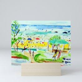 A Day at the Beach!          by kay Lipton Mini Art Print