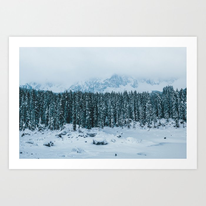 Blue and White - Landscape Photography Art Print