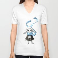 doll V-neck T-shirts featuring Rag Doll by Freeminds