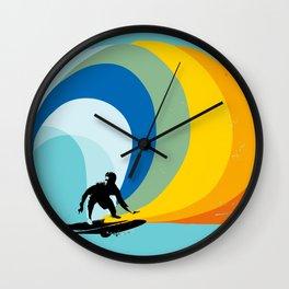 Breaking limits art print Wall Clock
