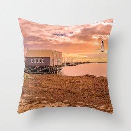 Busselton Jetty Sunset Throw Pillow