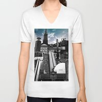 stockholm V-neck T-shirts featuring Urban Stockholm by Nicklas Gustafsson