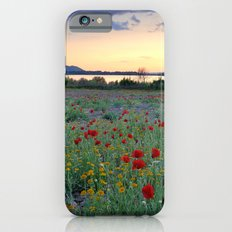 Red Poppies. Sunset at the lake iPhone 6s Slim Case
