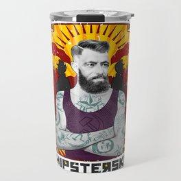 Karl Marx Hipster Travel Mug