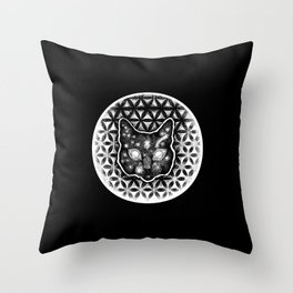 Tranquil CatLife Black soul Throw Pillow