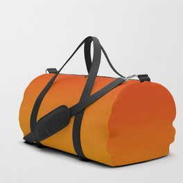Red Apple and Golden Honey Ombre Sunset Duffle Bag