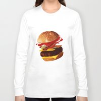 hamburger Long Sleeve T-shirts featuring Hamburger by Hikkaphobia