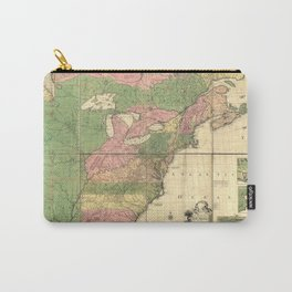 American Colonial Map from 1754 Carry-All Pouch
