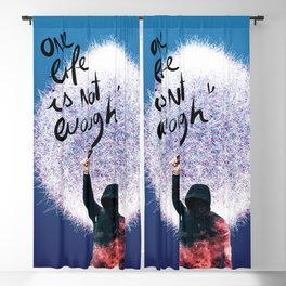 One life is not enough Graffiti Surreal Dream Blackout Curtain