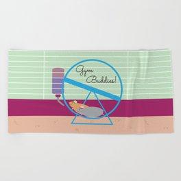 Gym Buddies Beach Towel