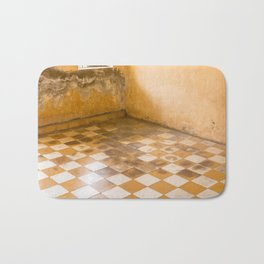 S21 Blood Stains - KhmerRouge, Cambodia Bath Mat