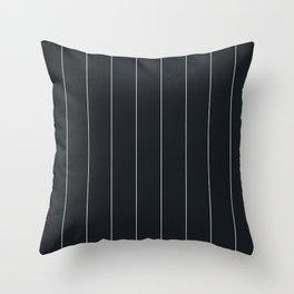 White and black pinstripes Throw Pillow