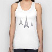 paris Tank Tops featuring Paris by sinonelineman