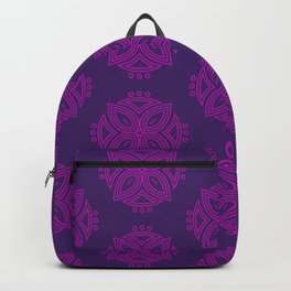 Petals | Moroccan-Style Pattern | Purple Backpack