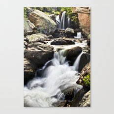 Waterfalls at Rocky Mountain Nat'l Park Canvas Print