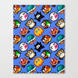 Super Mario World | Enemies Pattern Canvas Print