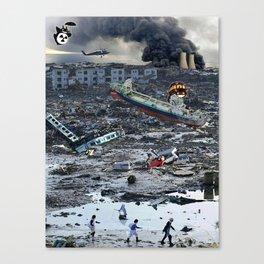 Still Life - Totoro Tsunami Series Canvas Print