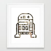 r2d2 Framed Art Prints featuring R2D2 by Arlo Pavlovich