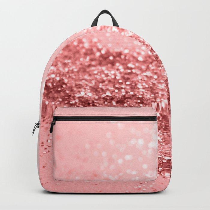 Summer Vibes Glitter #6 #coral #shiny #decor #art #society6 Backpack