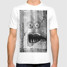 Copy Monster MEDIUM Mens Fitted Tee White