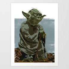 There is no try. Art Print