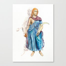 Personifications of Thrace and Egypt Canvas Print