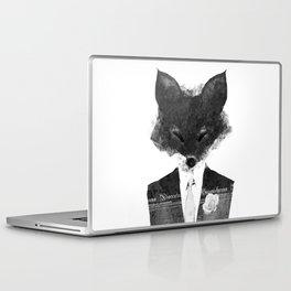 minima - dapper fox   noir Laptop & iPad Skin