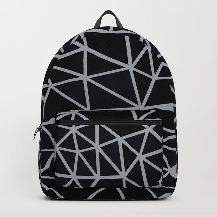 Segment Grey and Black Backpack