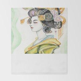 Chameleon Oiran Throw Blanket
