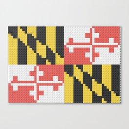 Maryland State Flag Building Block Design Canvas Print