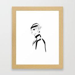 fashion sketch Framed Art Print