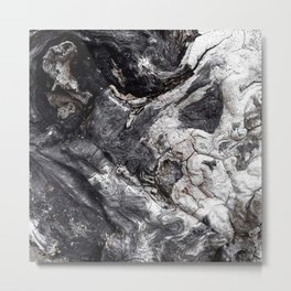Marbled Wood - Photography by Fluid Nature Metal Print