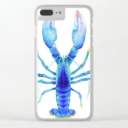 Light Blue Lobster Clear iPhone Case