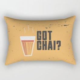 Funny Got Tea Chai Hindi Quote Rectangular Pillow