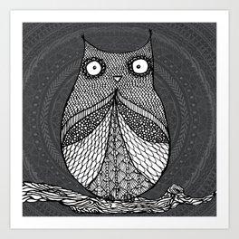 Doodle Owl Art Print