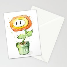 Fireflower Watercolor Painting Stationery Cards