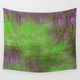 Green Color Fog Wall Tapestry