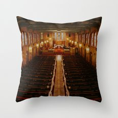 Old Warm Church Throw Pillow
