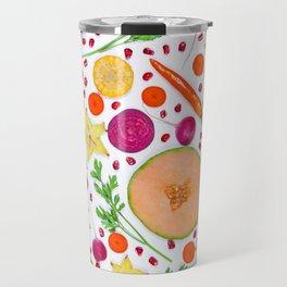 Fruits and vegetables pattern (19) Travel Mug