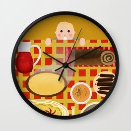 Screw Santa, there's food on the table! Wall Clock