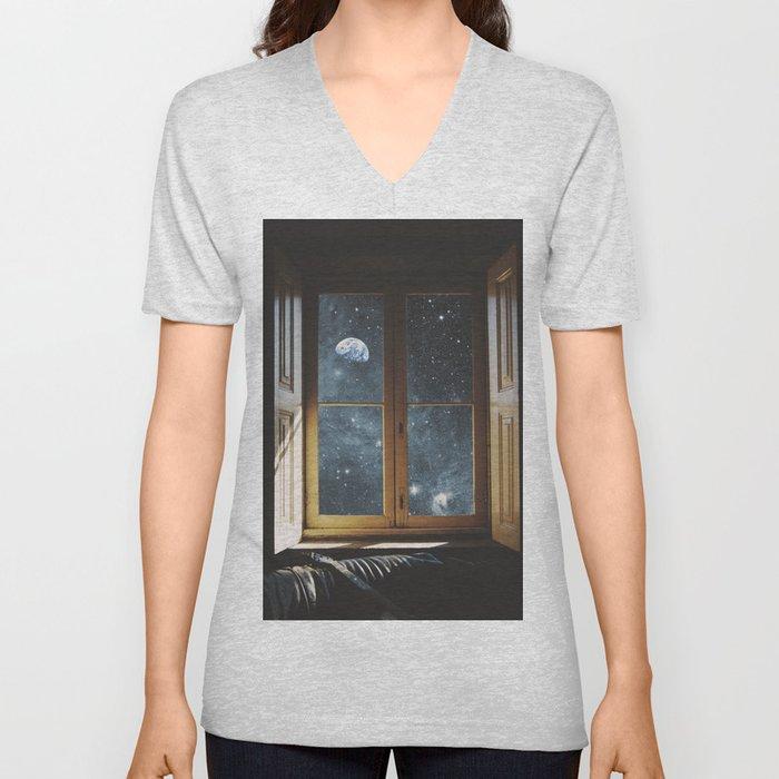 WINDOW TO THE UNIVERSE Unisex V-Neck