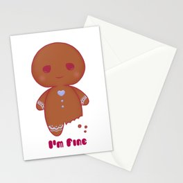 """""""I'm Fine"""" Gingerbread Cookie <3 Stationery Cards"""