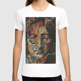 Hedgehog geometric pattern portrait of JohnLennon T-shirt
