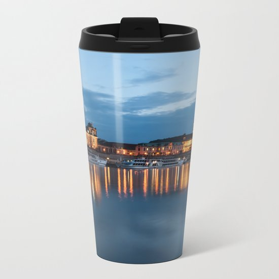 Dresden skyline, City, Germany, Cityscape blue hour Metal Travel Mug